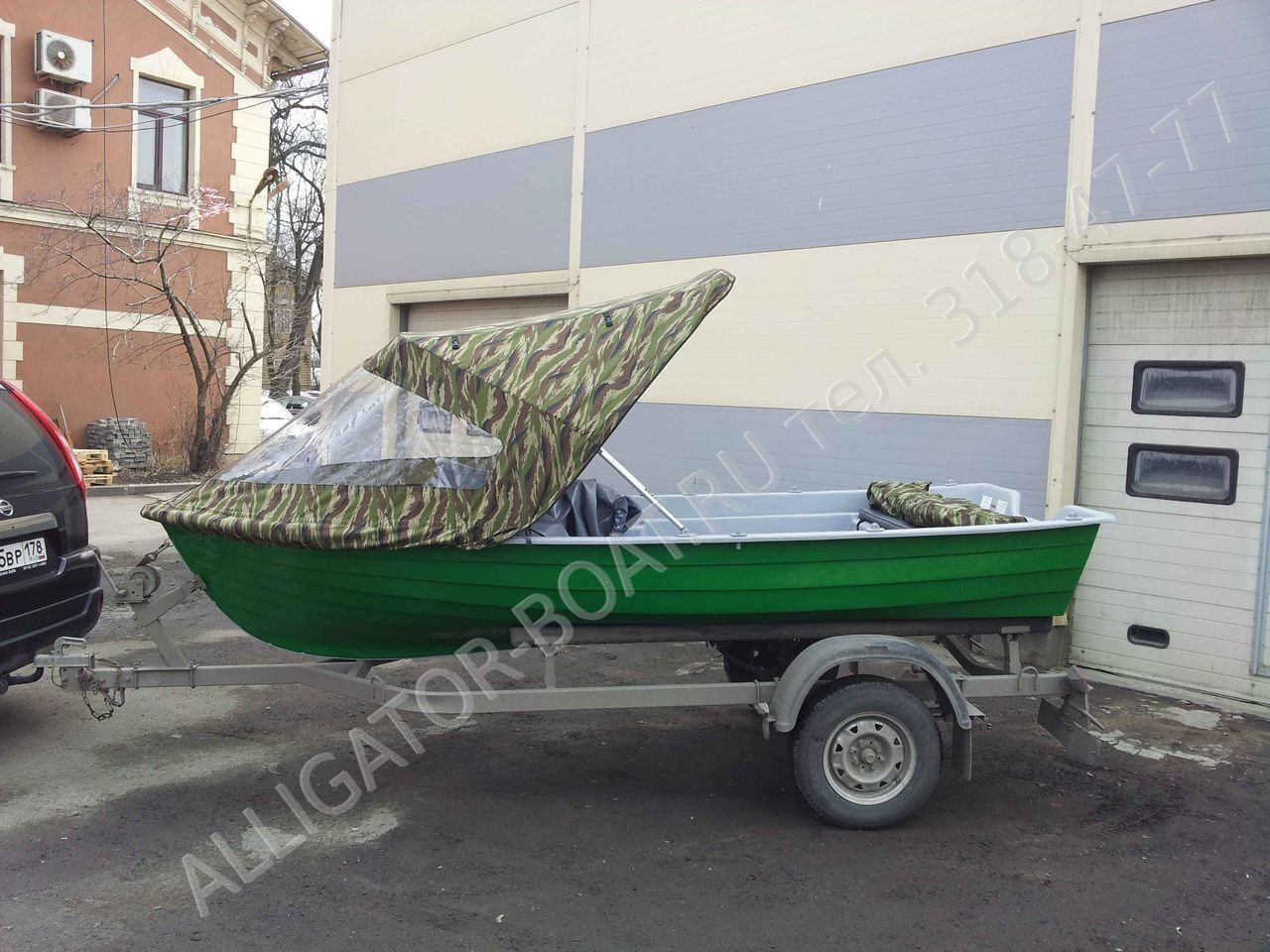 носовой тент на пластиковую лодку