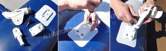 как приклеить держатель спиннинга на лодку пвх